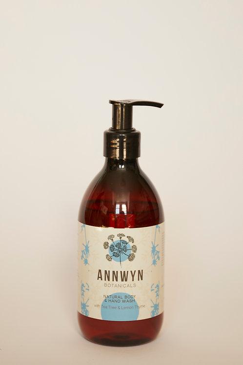 Natural Hand & Body Wash with Tea Tree & Lemon Thyme