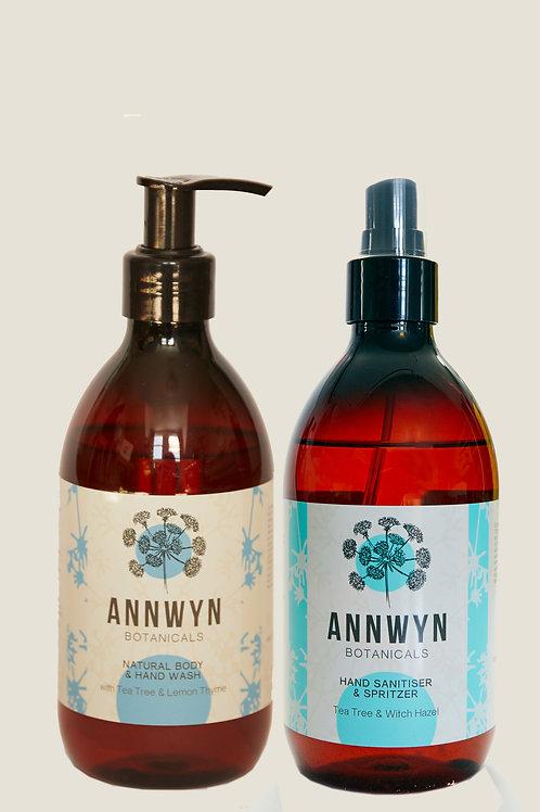 Anti Viral Hand Wash & Hand Sanitiser Combo