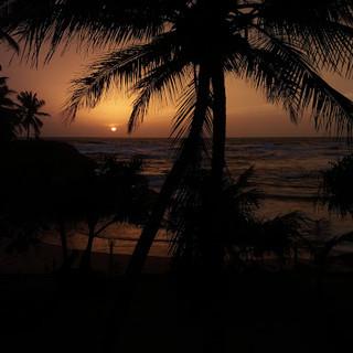 SUNSET AT INDURUWA BEACH