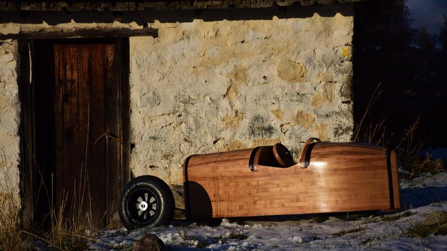 Morgan 3Wheeler car sculpture by Etienne Franzak