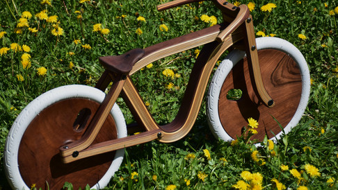 Wooden Balance bike by Etienne Franzak