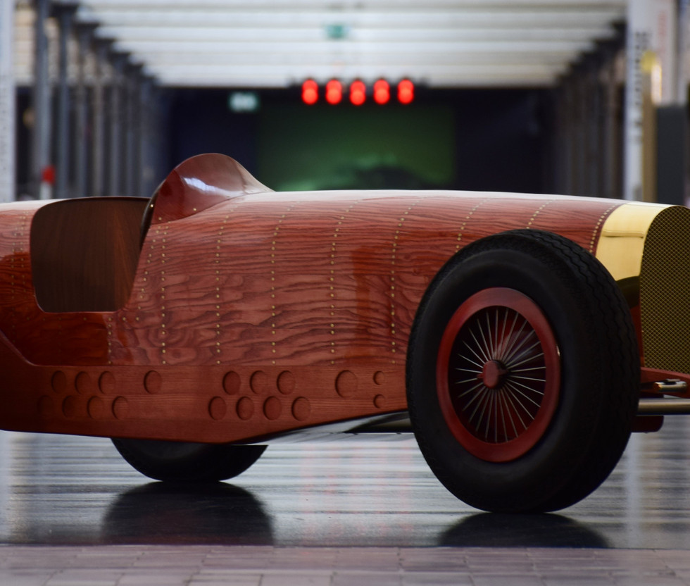 Automotive Sculpture Art by Etienne Franzak - Bugatti Car Sculpture