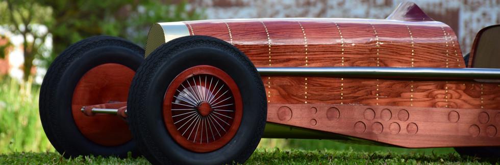 Bugatti Type 59 sculpture - Automotive Art
