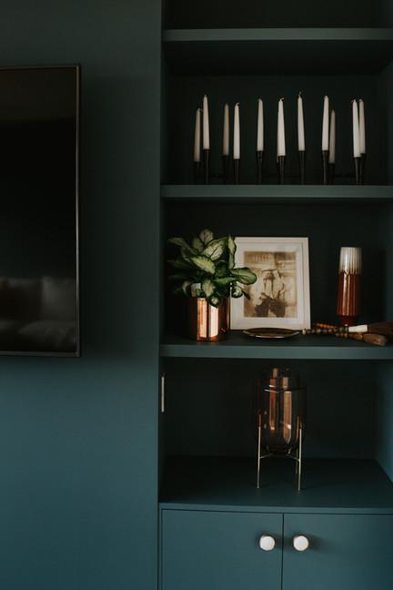 McBrimar Show Home media room shelves