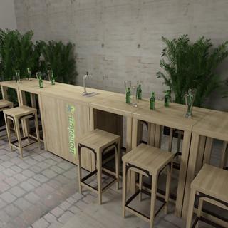 Heineken Tische