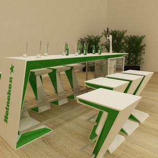 Heineken Tisch und Zapfhahn