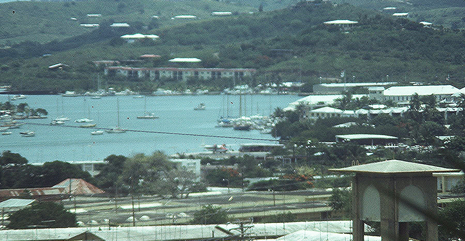 Christiansted, St. Croix - AAB Seaplane Ramp can be seen in the center.