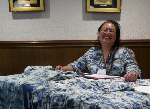 Jennifer Chun, Skal Hawaii President... always working hard for the club. Mahalo!