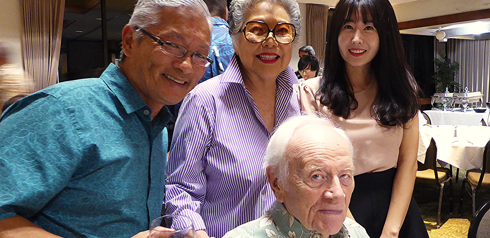Ted Sakai, Bobbi and Peter Fithian &
