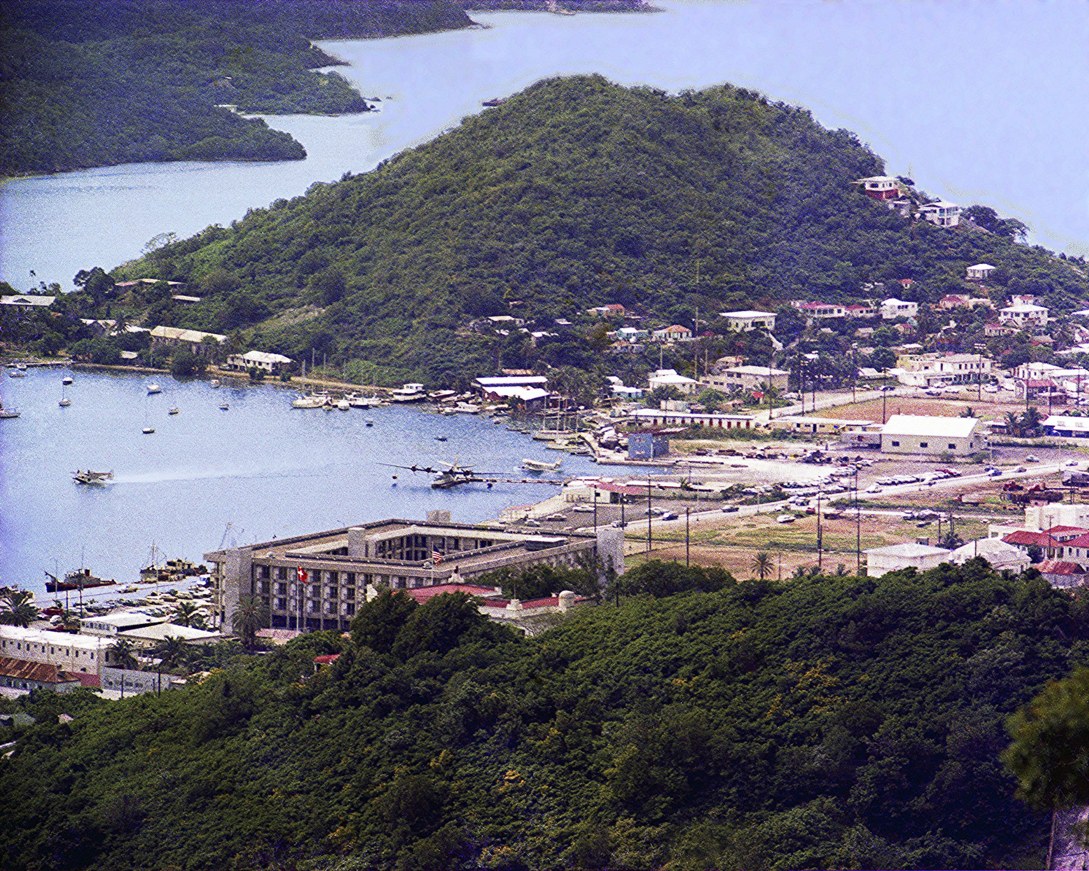 VS-44 at dock in STT