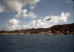 Excalibur VIIIfinal tribute over Christiansted, St. Croix as it leaves for England.
