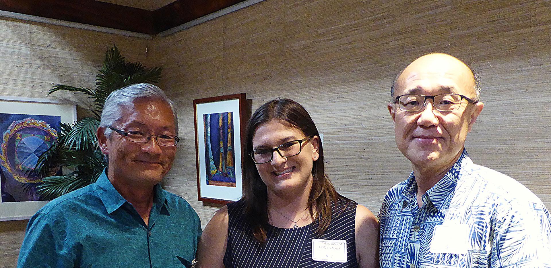 Ted Sakai, Samantha Londynsky &  Dr. Daewoo Park/HPU