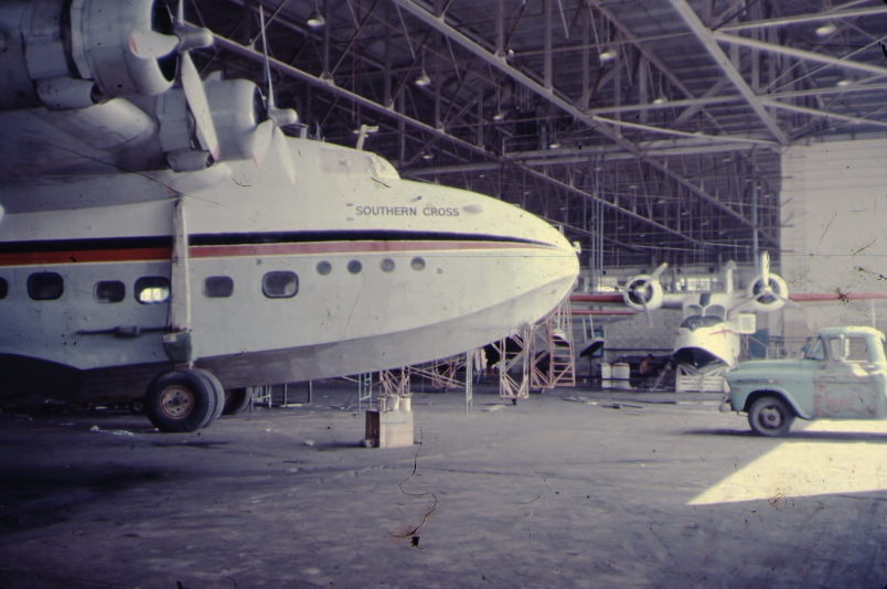 S25 Sandringham - Southern Cross in San Juan hangar
