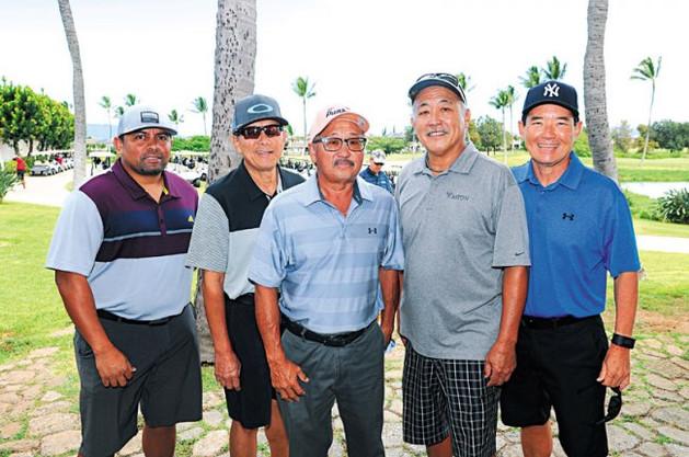Frank Nagamine, Paul Takaki, Lester Kodama, Doug Okada and Mike Tasaka