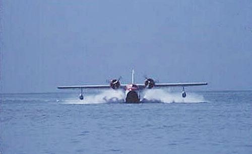 Grumman Mallard G73 landing in STX