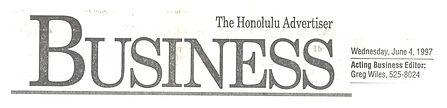 Honolulu Advertiser 6-4-97 Biz  LEAD2.jp