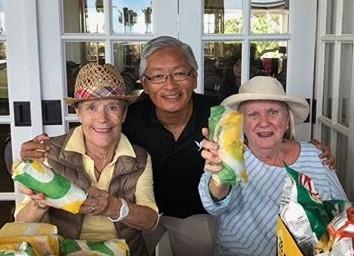 Gloria Henderson, Ted Sakai & Mary Lou Lewis