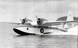 G-73 Mallard - The mallard landing in St. Thomas.