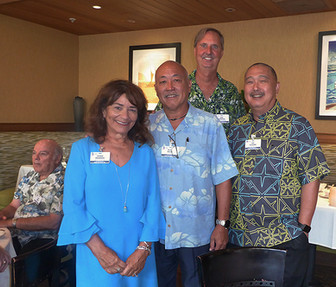 Susan Weander, Doug Okada, Joel Johnson & Pat Kozuma ( with Mike Miller in the background)