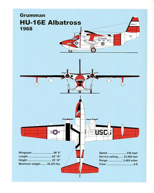 Grumman HU16E 3-View Drawings (Large).jp