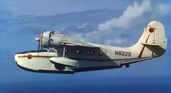 N8229 - Flying with the floats down to match the other 3 aircraft in formation. Normally the floats