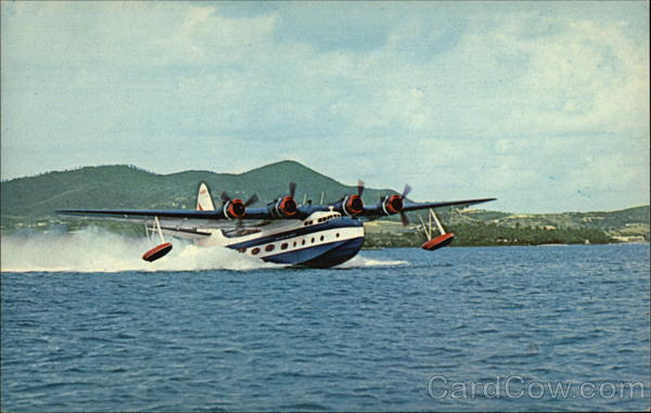 "VS -44 Excambian - ""Mother Goose"" taking off in St. Croix."