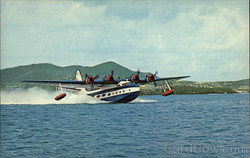 """VS -44 Excambian - """"Mother Goose"""" taking off in St. Croix."""