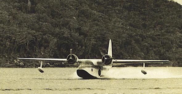 Grumman Mallard - G-73 Mallard landing in St. Thomas.