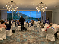 Speakers compete with view of Diamond Head from the QK Ballroom.