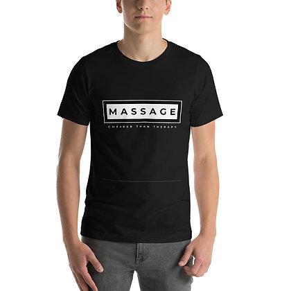 Massage Word In Center Short-Sleeve Unisex T-Shirt