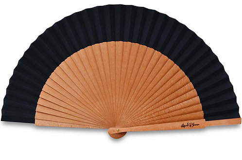 Sencillo noir - éventail en bois de poirier