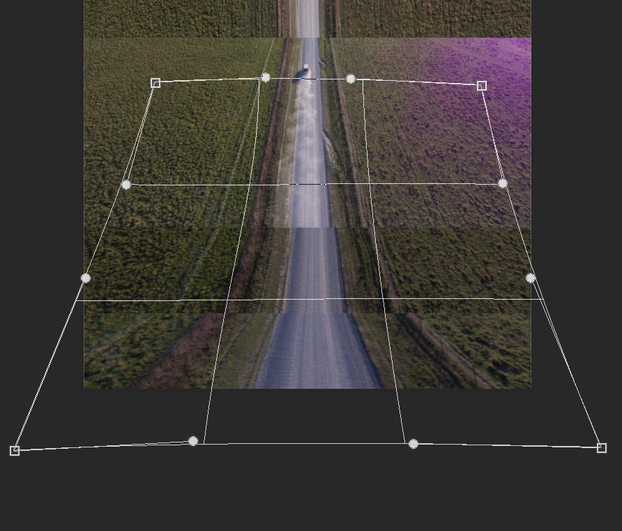 Drone photo warping