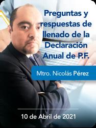 Preguntas y Respuestas del llenado de la Declaracion Anual P.F. 2020