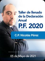 Personas Morales 2020 - Taller de llenado