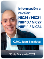 Información a revelar: NIC24/NIC21/NIIF10/NIC27/NIIF11/NIC34
