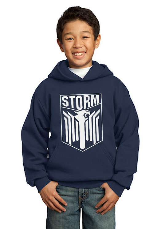 Storm - 2019 Youth Pullover Hooded Sweatshirt -NAVY
