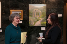 Artists Janet Kondziela and Sawsan Chehab