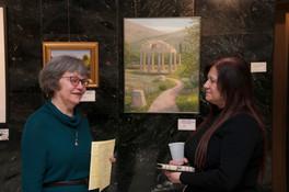 Artists Janet Kondziela and Sawsan Chehab