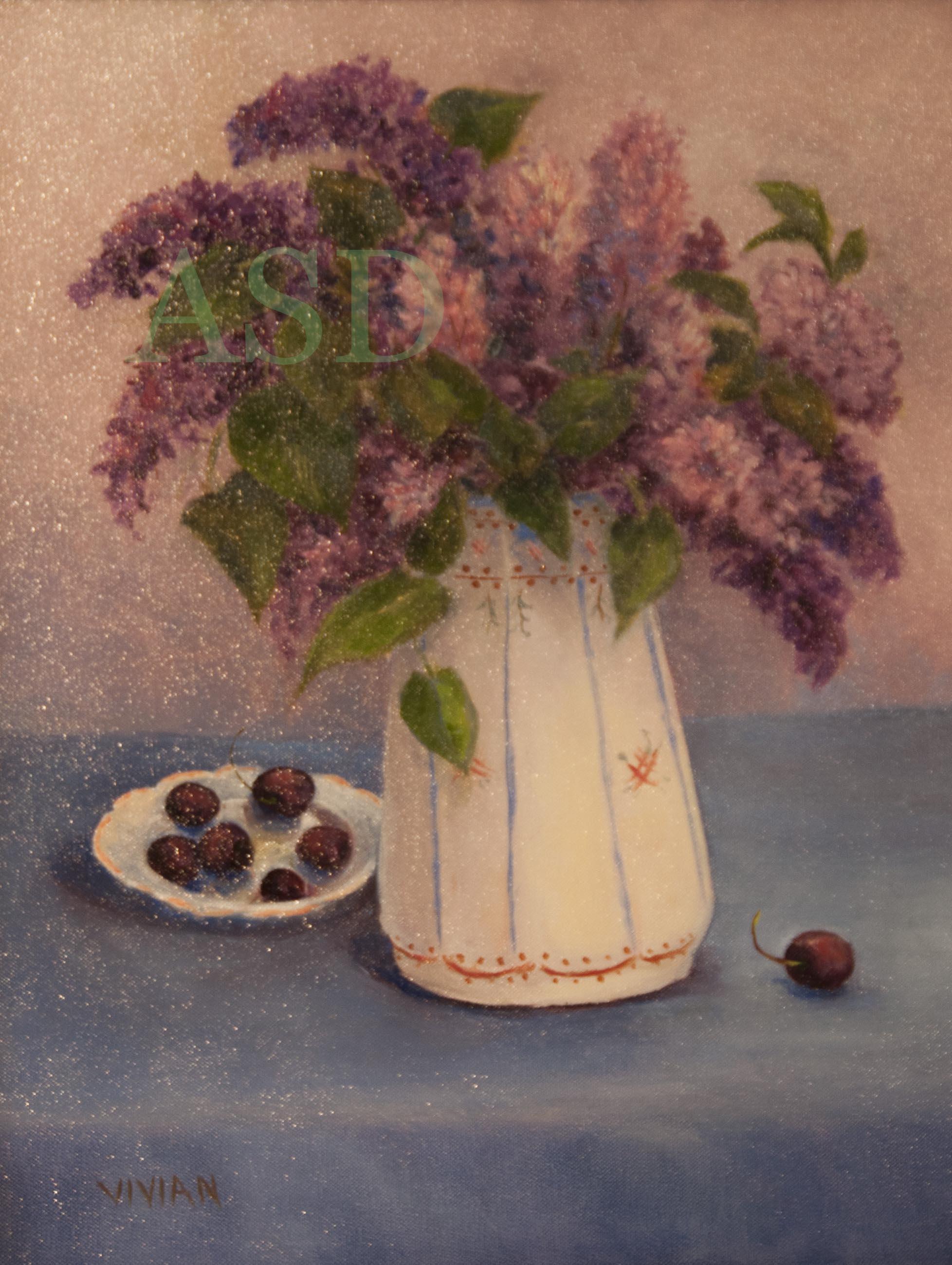 Lilacs in Portugal Vase