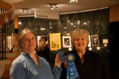 Pamela Sayre and Jan Dale, 1st place in Oil/Acrylics