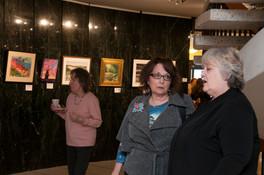Artists Vivian Longfellow, Sylvia Bandyke and Jan Dale
