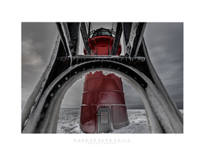 """South Heaven Lighthouse, Winter 2021"" by Barbara Urbanik"