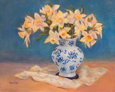 Daffodils in Blue Delph