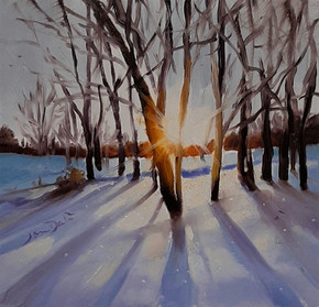 """""""Sunrise Over Snow"""" by Jan Dale"""