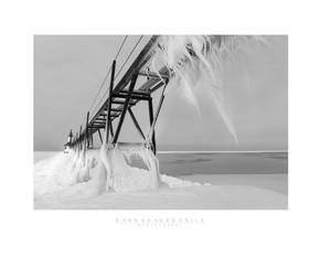 """St. Joseph Lighthouse, Winter 2021"" by Barbara Urbanick"