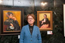 Kathleen W. O'Connell and her painting
