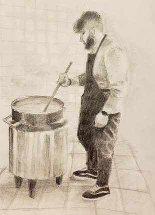 Graphite on paper by Jan Dale