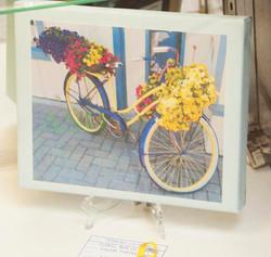 Floral Bike on Canvas