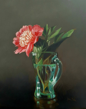 Peony in a Coke Glass