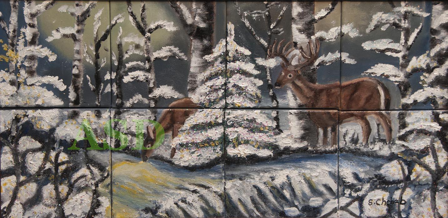 Deers on Snow